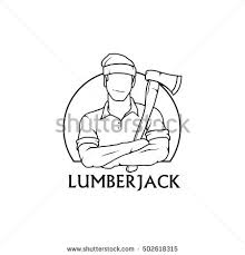 lumberjack saw clipart. lumberjack drawing vector logo icon clipart png wallpaper silhouette saw