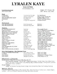 Acting Resume Example Sample It Resume Sample Acting Resume Special