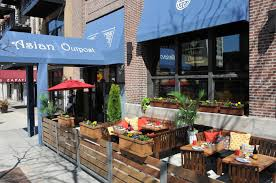 restaurant patio fence. Perfect Restaurant Sidewalk Seating At Asian Outpost With Restaurant Patio Fence A