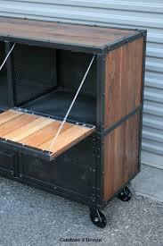 Industrial Bar Cabinet Custom Made Bar Cart Liquor Cabinet Vintage Industrial Urban