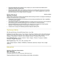 Resume Sample For Fresh Graduate Business Administration