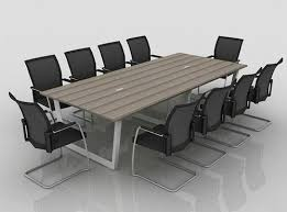wooden and metal square and round meeting room table size 8x4