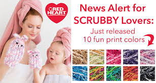 Red Heart Scrubby Pattern Simple News Alert For Scrubby Lovers Red Heart Blog