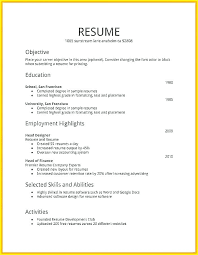 How To Make A Job Resume Simple How Make A Resume Examples Of Resumes Inside Format Objective 60 To
