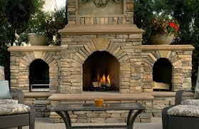 image of large chimney style fire pit