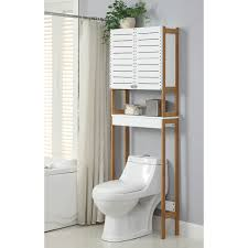 Above Toilet Storage bathroom saving space furniture design by using over the toilet 6539 by uwakikaiketsu.us
