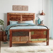 reclaimed wood queen bed. Simple Wood Handmade Reclaimed Wood Weathered Queen Bed India For I