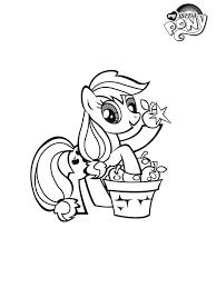 Kleurplaat My Little Pony Applejack Kleurplatennl