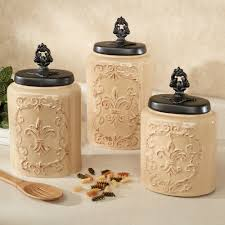 Yellow Kitchen Canister Set Kitchen Canisters And Canister Sets Touch Of Class