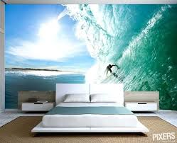 surfing room decorations fresh summer decorating trend surf themed wall murals in bedrooms awesome surf themed