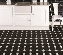 Victorian Kitchen Floor Octagon Black Ceramic Tile