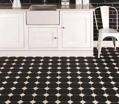 Victorian Kitchen Floor Tiles Octagon Black Ceramic Tile