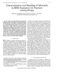 1 2 6 P Understanding Analog Design Answers Pdf Characterisation And Modeling Of Mismatch In Mos