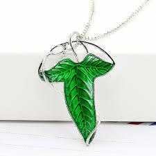 omeng hobbit silver long elven leaf pendant arwen evenstar pendant the evenstar