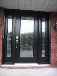 black wooden front door black wooden door with glass panel using silver handle plus double as