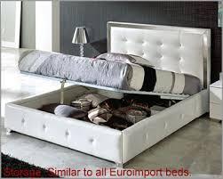 white modern platform bed. Modern Upholstered Platform Bed Valencia In White Made Spain 33B242