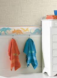 dinosaurs and titles orange and teal wallpaper border room to grow york bs5352bd