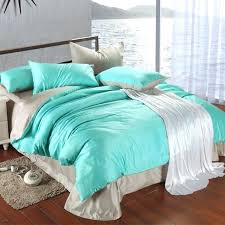 turquoise bed set luxury bedding king size blue green duvet cover grey sheets queen double in a bag linen quilt doona full and white