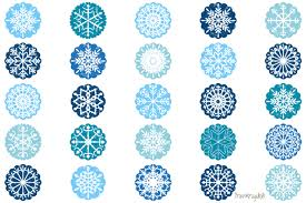 Snowflakes Ornaments Clipart Snowflake Design Clip Art Set
