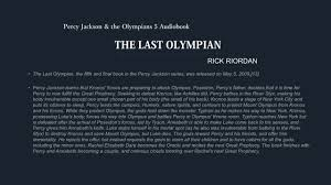 the last olympian percy jackson and the olympians 5 audiobook