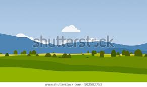 Cartoon Landscape Rural Area Stock Image Download Now