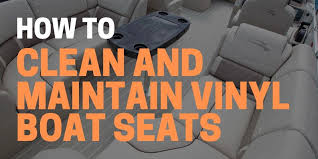 how to clean vinyl boat seats with