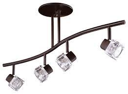 track lighting rail. nova series 4light oil rubbed bronze fixed rail fixture contemporarytrack lighting track