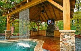 backyard design ideas with pool and outdoor kitchen landscaping intended for backyard designs pool outdoor kitchen