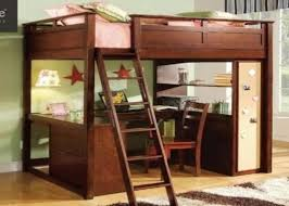 image of modern diy full size loft bed