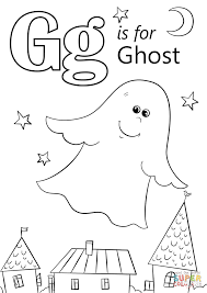 Small Picture Letter G is for Ghost coloring page Free Printable Coloring Pages