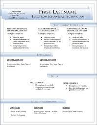Word Resume Template Easy Representation Templates Microsoft For Cv