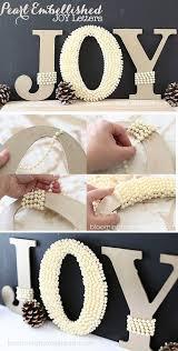 DIY Pearl Embellished JOY Letters
