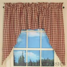 Red Swag Kitchen Curtains Country Swag Curtains Swags Raghu Curtains Window Curtains