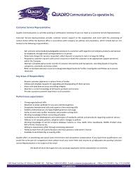 Qualifications For A Customer Service Representative Customer Service Representative Key Areas Of Responsibility