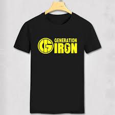 generation iron t shirt golds gym bodybuilding arnold schwarzenegger t shirt schwarzenegger cotton tops tee homme camiseta