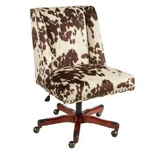 Furniture Interesting Brown And White Cow Print Swivel Office