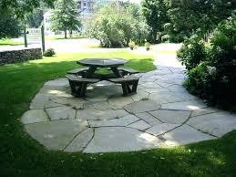 patio shape ideas flagstone backyard patios shapes l shaped bench plans