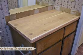 bathroom makeover day 2 my 35 diy wood countertop with plywood decor 16