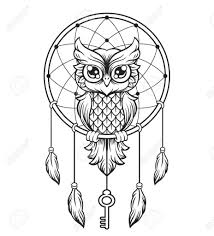 Drawn Dream Catchers Dreamcatcher Drawing Blackwhite Dream Catcher Black And White Owl 68