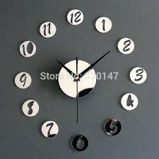 home decor wall clock acrylic creative mirrors figure in small round best clocks australia