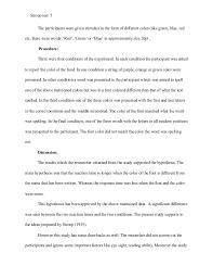 Apa Lab Report Example Under Fontanacountryinn Com