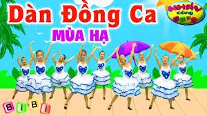 Nhạc Thiếu Nhi Remix Vui Nhộn Cho Bé - Dàn Đồng Ca Mùa Hạ - Nhảy Cùng BiBi