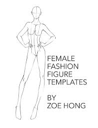 Blank Fashion Design Templates Gorgeous Female FASHION FIGURE TEMPLATES Etsy