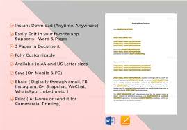 9 Meeting Memo Examples Samples Pdf Doc Pages Examples
