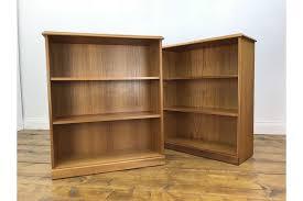 stunning pair of retro teak bookcases vintage bookshelf wall unit sideboard photo