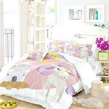 unicorn single duvet cover series cartoon animation unicorn rainbow bedding set pink single unicorn single duvet