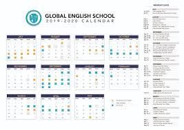 Image Of 2020 Calendar 2019 2020 School Calendar