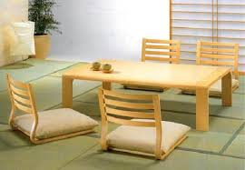 low height dining table for ground seating