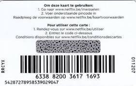 netflix Netflix netflix Belgique Cartes Cadeau Col bel-net-004