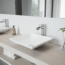 vgt1086bn vigo matte stone square vessel bathroom sink with faucet